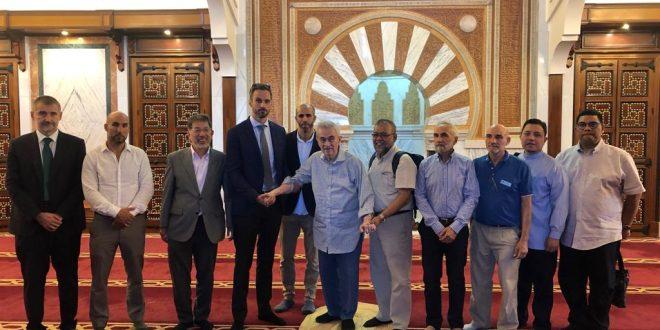 Visita de Tun Abdullah a la Mezquita de Granada